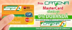 Catena MasterCard si BRD – rate cu 0% dobanda