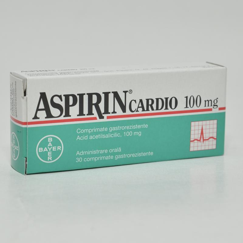 Aspirin Cardio 100mg, 30 comprimate gastro-rezistente