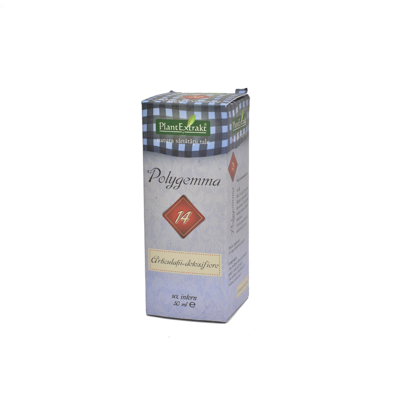 Polygemma 14 Articulatii Detoxifiere, 50 ml, Plant Extrakt   Planteco