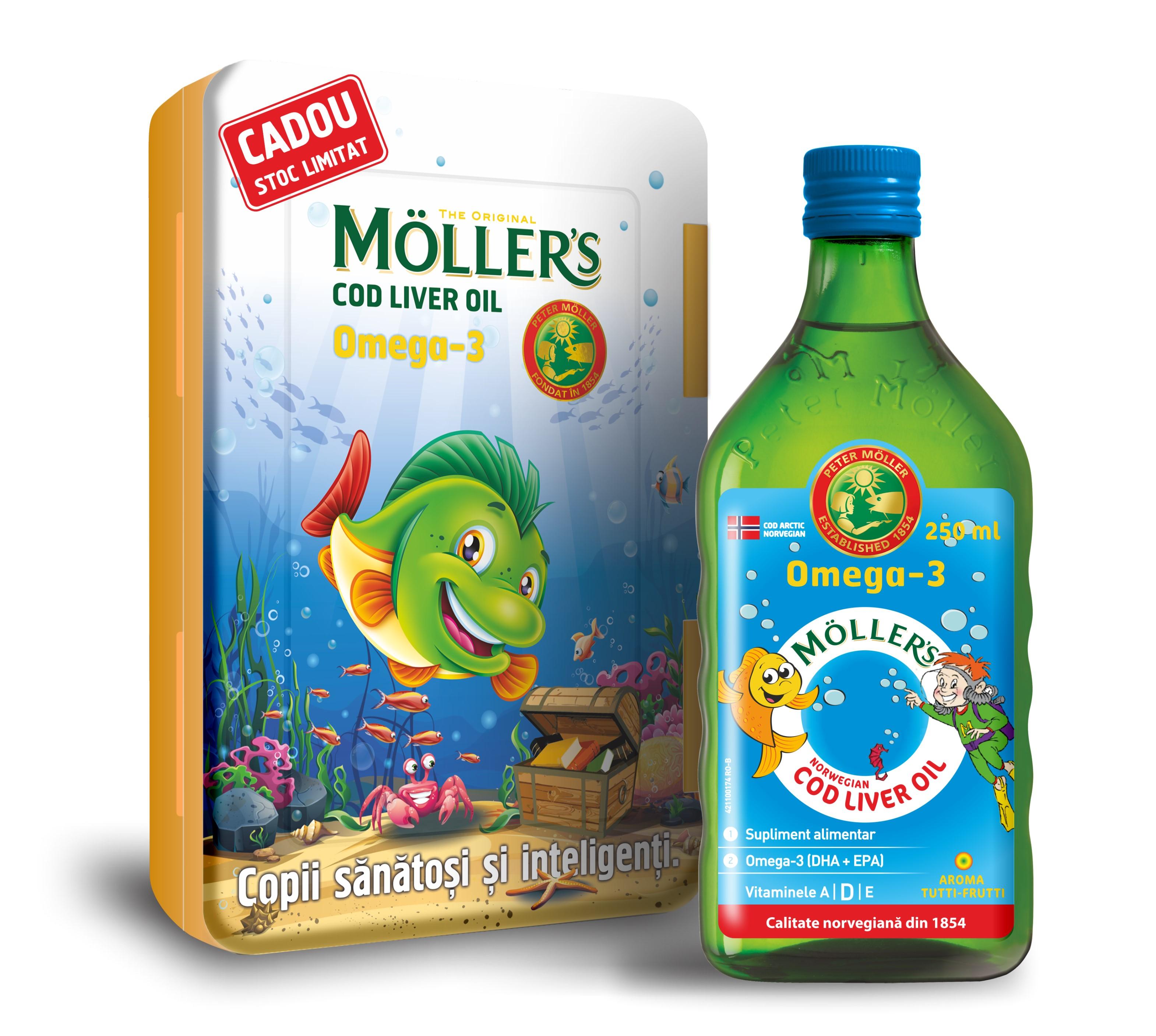 Ofertă Pachet Cod Liver Oil Omega 3 Lămâie și Capsule C : Bebe Tei