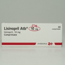 Lisinopril Antibiotice 10mg, 3 blistere x 10 comprimate