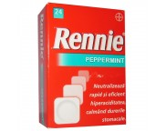 Rennie Peppermint x 24 comprimate masticabile