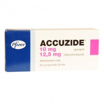 Accuzide 10mg/12.5mg, 3 blistere x 10 comprimate filmate