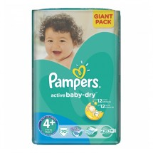 Pampers 4+ active baby 9-16 kg GP, 70 buc.
