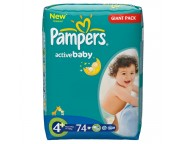 Pampers giant nr.4 plus x 74 buc