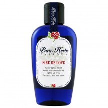 PURITY HERBS Fire of Love Ulei de masaj corporal puternic afrodiziac, 125ml
