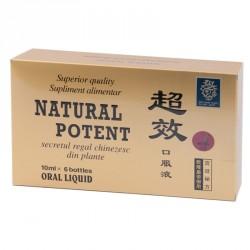 Natural potent x 6 fiole x 10 ml sol. buvabila
