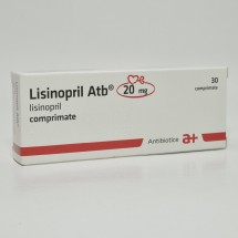 Lisinopril Antibiotice 20mg, 3 blistere x 10 comprimate