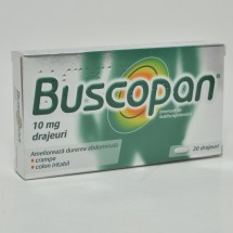 Buscopan, 10mg, 20 drajeuri
