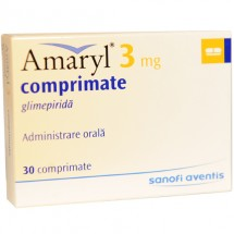 Amaryl 3mg, 30 comprimate