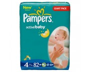 Pampers Giant nr.4 x 82 buc.