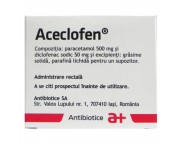 Aceclofen x 6 supoz.  IS
